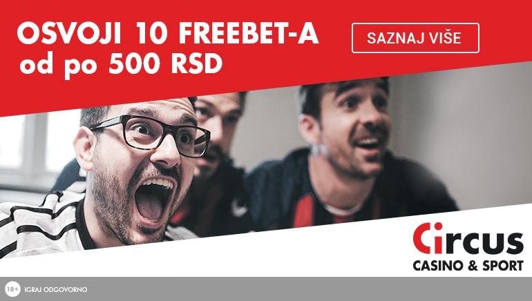 Circus Sportsbook - BONUS DOBRODOŠLICE RSD500 Depozit bonus
