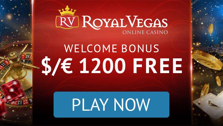 Royal Vegas Casino - BONUS DOBRODOŠLICE €300, 100% Match Bonus